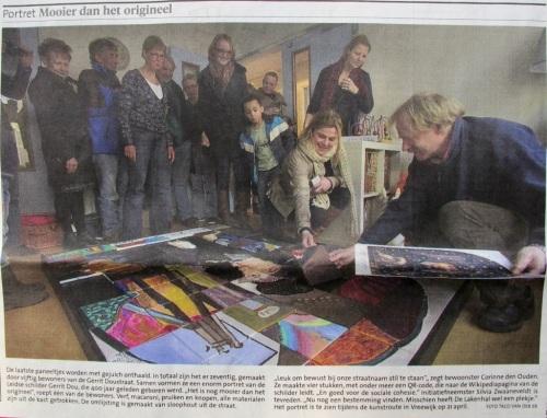 Artikel Leidsch Dagblad - burenschilderij Gerrit Dou