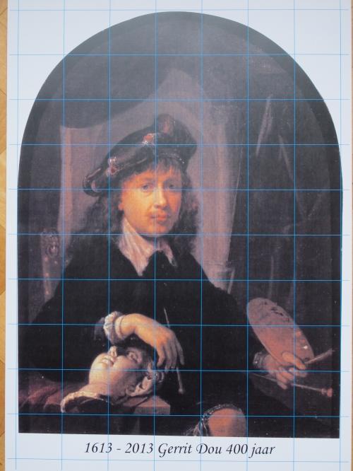 Gerrit Dou, zelfportret, framed